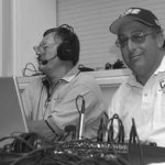Streaming Media Pioneer, Dave Blackburn (at right), with broadcaster Ron Chambers
